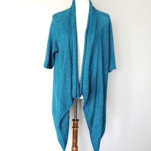 Eileen Fisher | Turquoise Cardigan Alpaca Silk